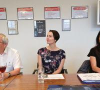 Zleva: Roman Procházka, ředitel ZZ CzT Jekatěrinburg, Alena Kudílková, ředitelka ZZ CzT Moskva, a Monika Palatková, ředitelka CzT. Foto: Lenka Neužilová
