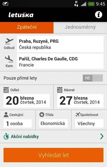 Aplikace Letuška.cz na vyhledávání a nákup letenek běží nově i na Windows