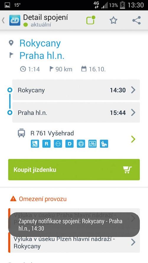 aplikace české dráhy