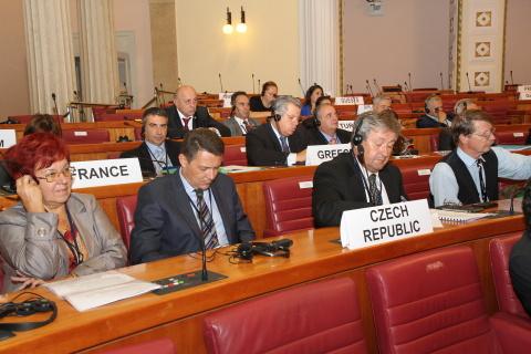 Česká delegace na konferenci v Záhřebu, M. Halíková vlevo Foto: Archiv chorvatského parlamentu