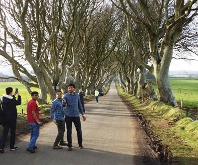 Buková alej Dark hedges v Severním Irsku, kde se natáčel seriál Hra o trůny, Foto: Jiří Andres