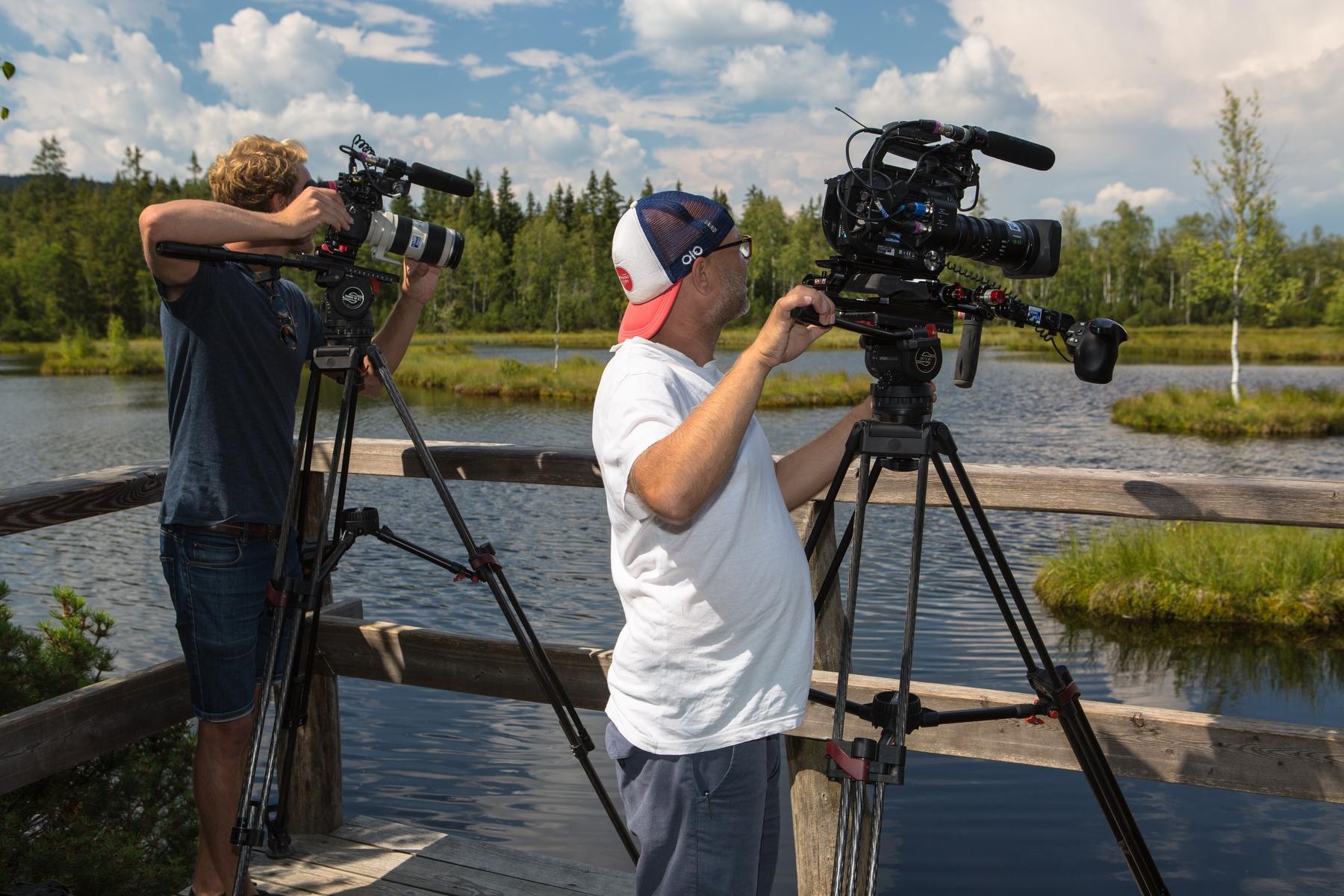 Natáčení TV National Geographic na Šumavě. Foto: archiv