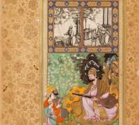 Miniatura A12182 s portrétem bídžápurského sultána Ibráahíma Ádilšáha II. Foto: Národní muzeum