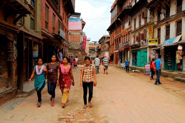 Bhaktaphur - život v ulicích starého města, Foto: Petr Novotný