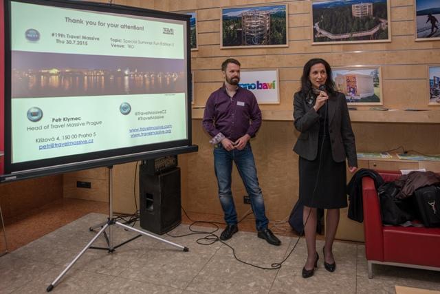 Petr Klymec a generální ředitelka CzechTourism Monika Palatková při zahájení Travel Massive. Foto: archiv TM
