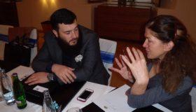 Jeyhun Efendi, ředitel flydubai, při rozhovoru s Amarou Zemplinerovou. Foto: Vlaďka Bratršovská