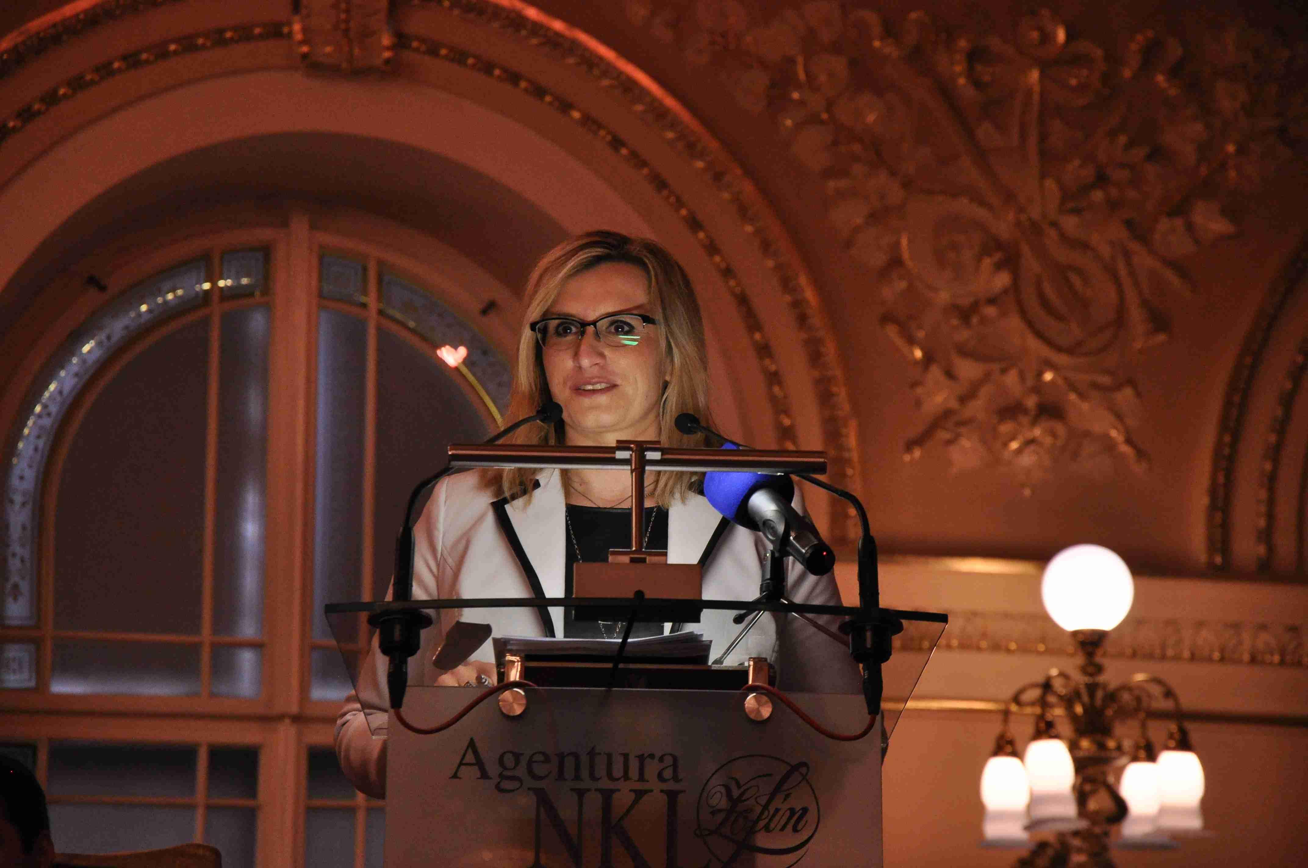Karla Šlechtová, ministryně pro místní rozvoj, na Žofínském fóru Foto: Lucie Poštolková