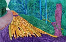 "David Hockney ""More Felled Trees on Woldgate"" 2008 Oil on 2 canvases (60 x 48"" each) 60 x 96"" overall © David Hockney Photo Credit: Richard Schmidt"