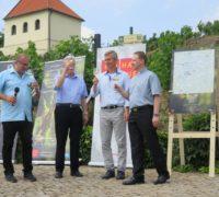 Na fotce zleva: Jiří Skalický, Karel Petrželka, Stanislav Rudolfský a Michal Němeček. Foto: Naďa Rybárová