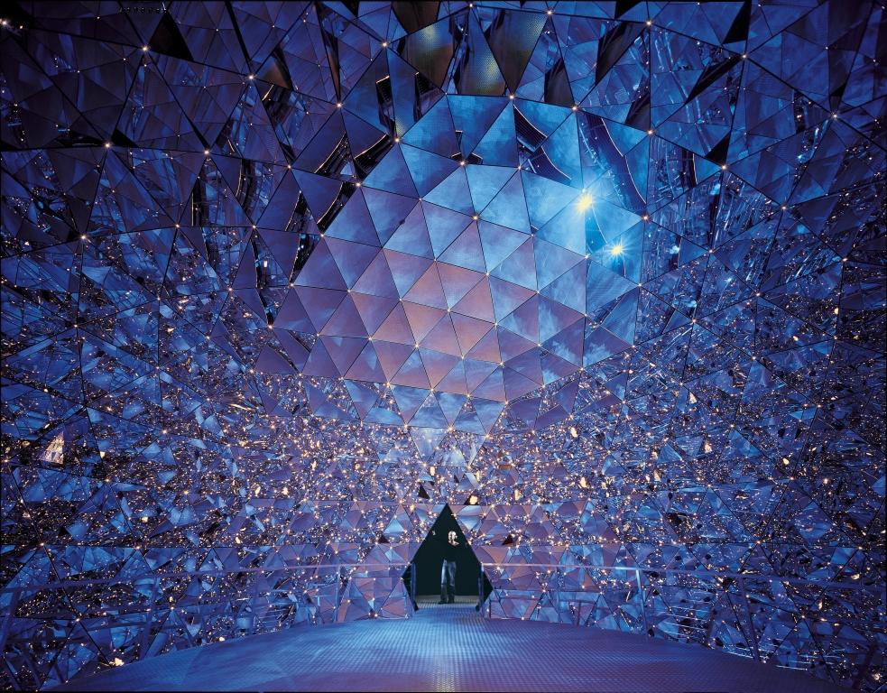 Kristalldom blau-rosa by Walter Oczlon