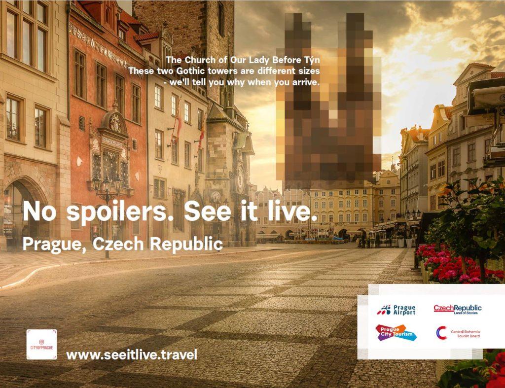 Centrum New Yorku zaplavila kampaň Prahy a středních Čech