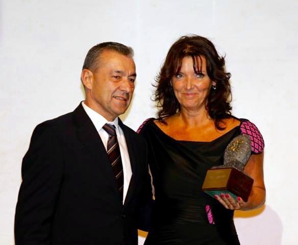 Lenka Viková s prezidentem autonomní vlády Kanárských ostrovů JE Paulinem Riverem, Foto: archiv Lenky Vikové