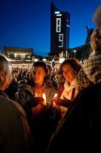 Slavnosti světla v Lipsku každý rok připomínají nenásilnou revoluci Foto: Dirk Brzoska