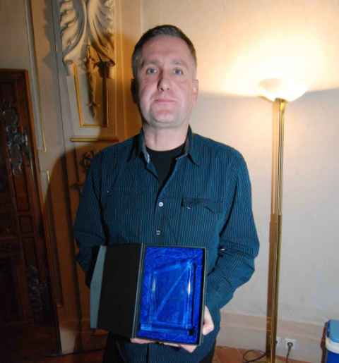 Pan Jaroslav Lebeda, sládek pivovaru Ferdinand s oceněním Foto: Michal Vokřál