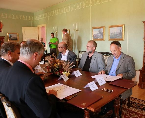 Podpis memoranda, Foto: Koruna Vysočiny