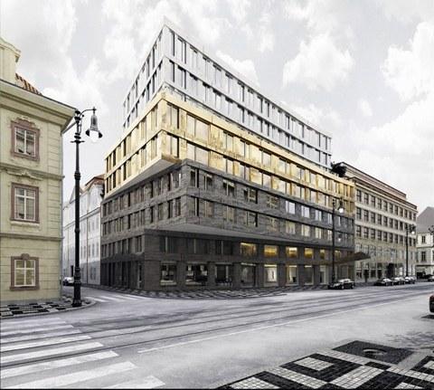 Projekt luxusního hotelu na Národní třídě, Vizualizace Ditrich a.s.