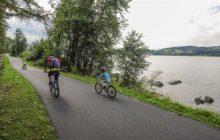 Nová cyklostezka u lipenské přehrady