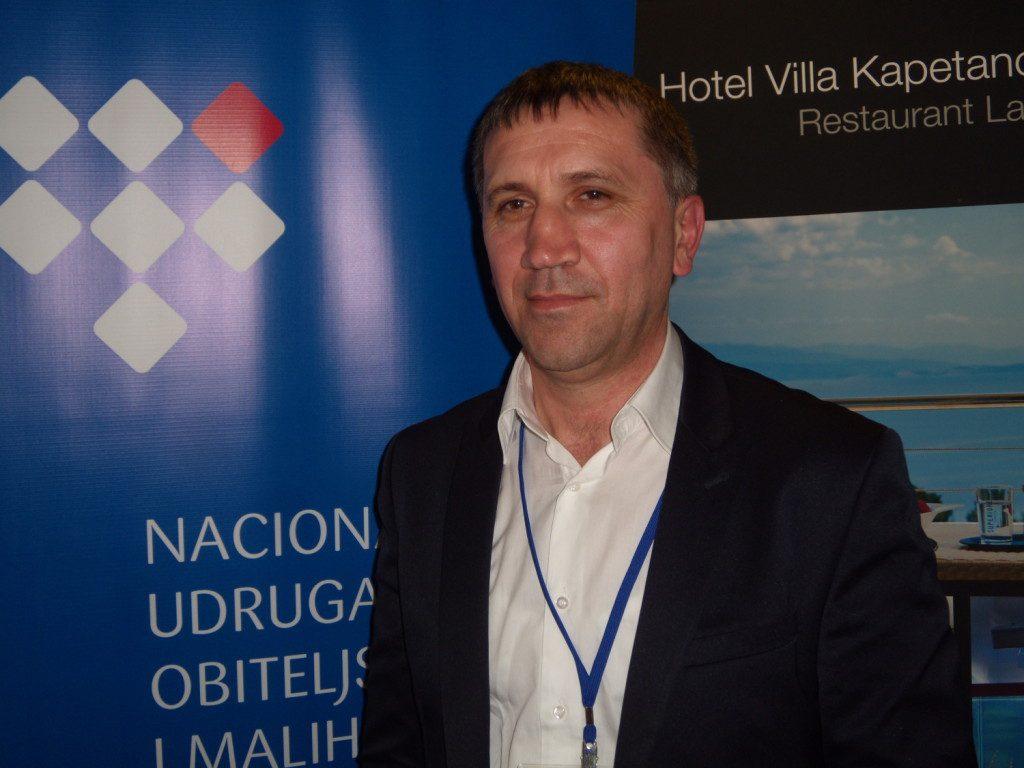 Na snímku Šime Klarić, předseda Sdružení malých a rodinných hotelů v Chorvatsku, na prezentaci v Praze. Foto: Vlaďka Bratršovská