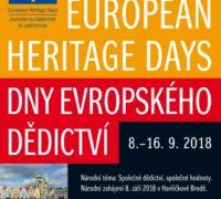 Dny evropského dědictví: 8.–16. září 2018