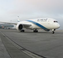 Dreamliner aerolinií EL AL výjimečně v Praze