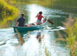 Odpočinková vodní turistika v lipské jezerní krajině Foto: TVNL/Christian Hüller