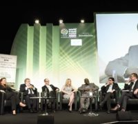 World Travel Market 2016, ExCeL, London – World Responsible Tourism Day. Round table Discussion hosted byAaron Heslehurst. Auliana Poon, Tourism Intelligence International. Harold Goodwin, WTM Responsible Tourism Advisor. Justin Francis, responsibletravel.com. Jane Ashton, TUI. Adama Bah, Institute of travel & Tourism of Gambia. Dr Venu, Tourism Kerala. Foto: WTM