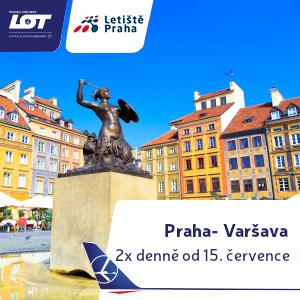 LOT banner square Praha-Varšava