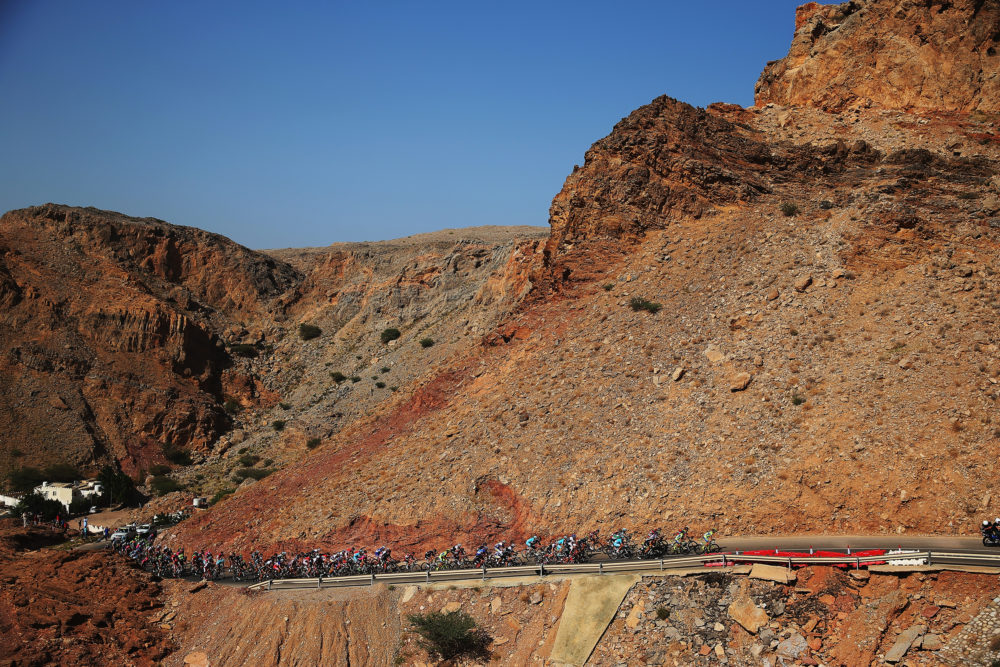 o of the 2015 Tour of Oman, a 195.5km road stage from Al Hazm Castle to Al Bustan on February 18, 2015 in Al Hamriyah, Oman. (Photo by Bryn Lennon/Getty Images)